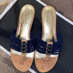 Navy  Blue touch of Nina sandal  suze8